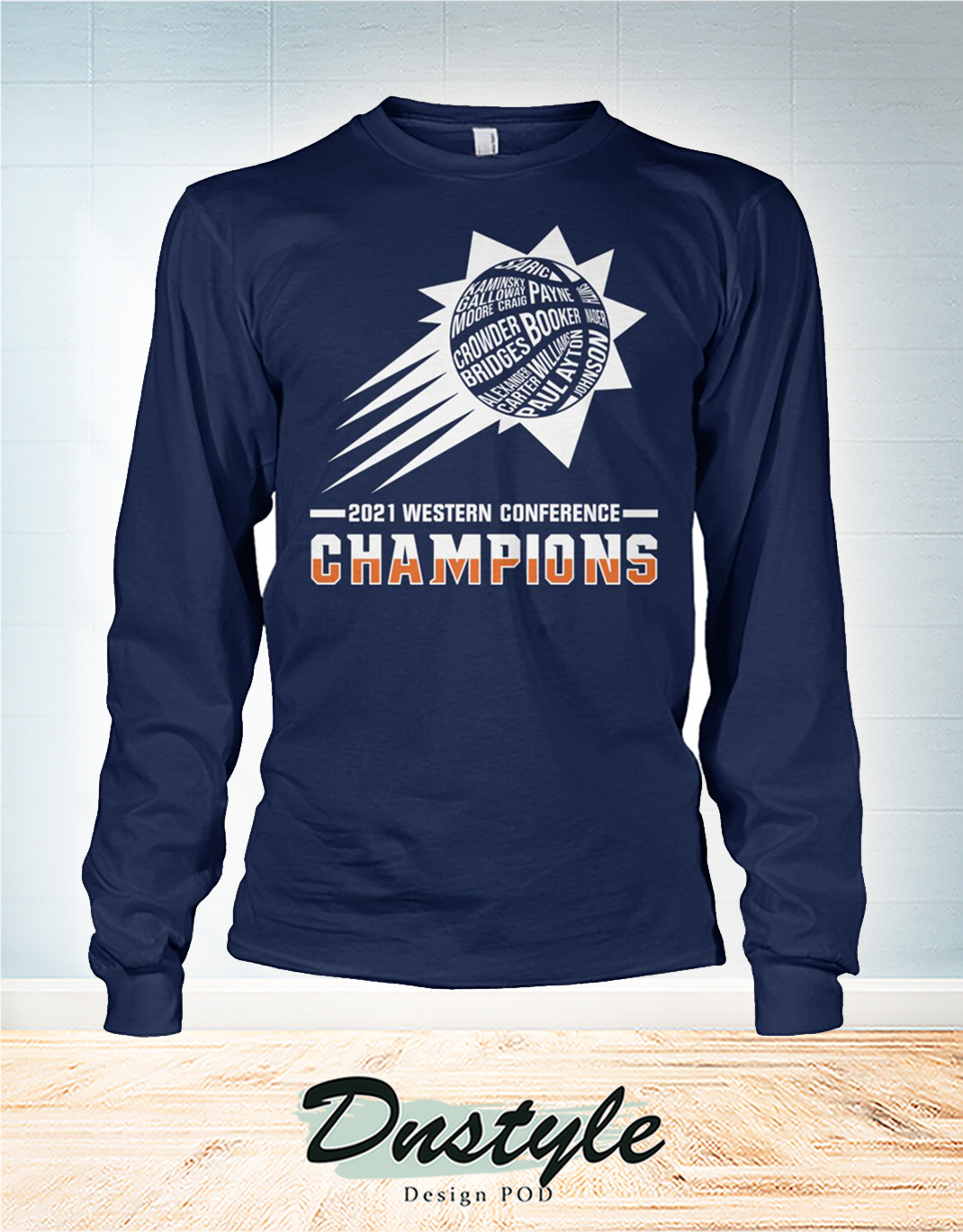 Phoenix Suns 2021 western conference champions long sleeve