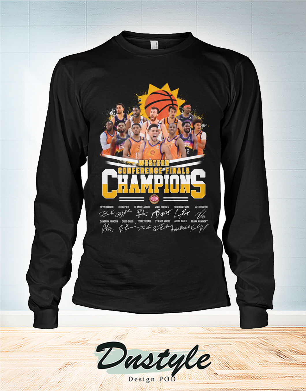 Phoenix Suns western conference finals champions signature long sleeve