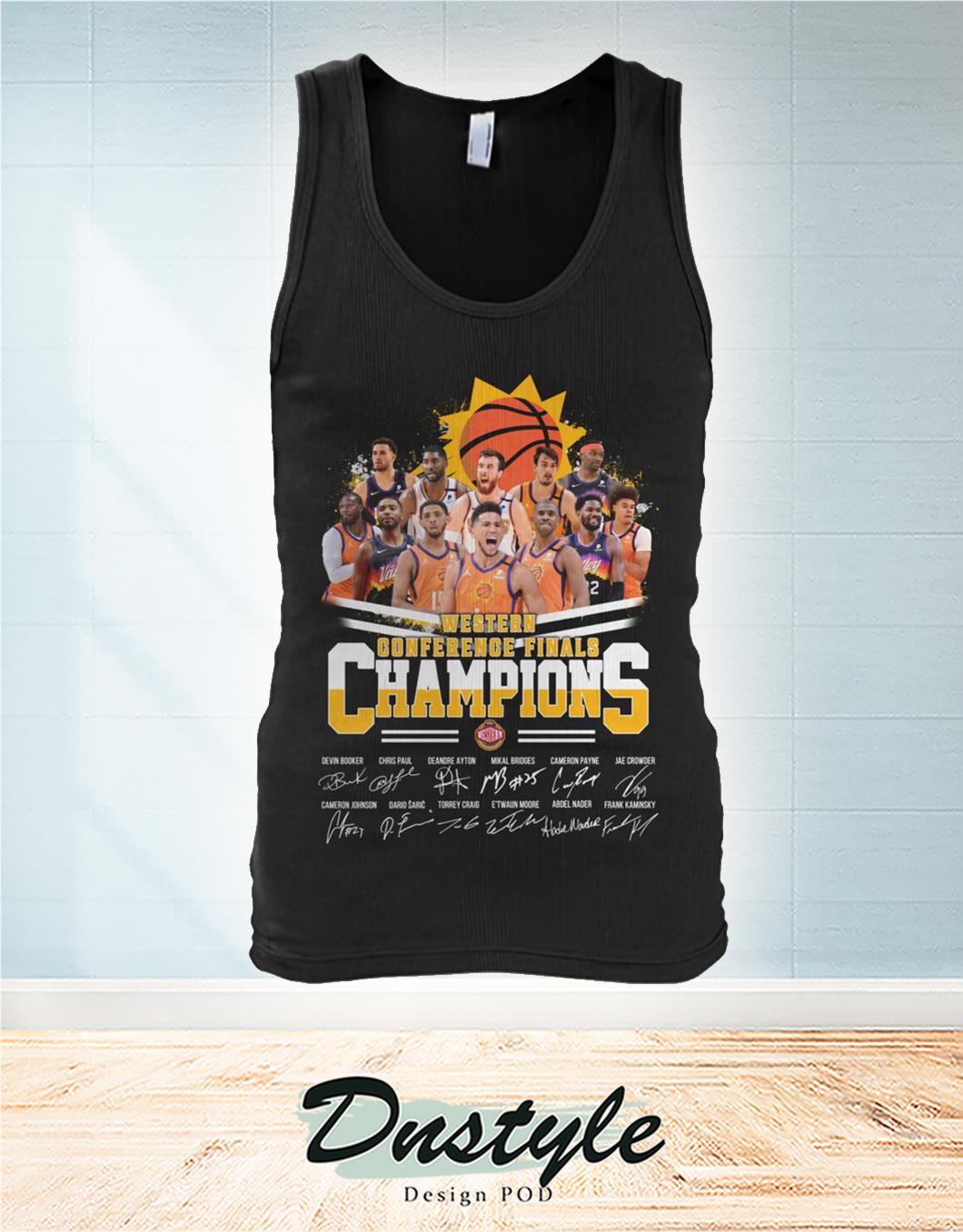 Phoenix Suns western conference finals champions signature tank