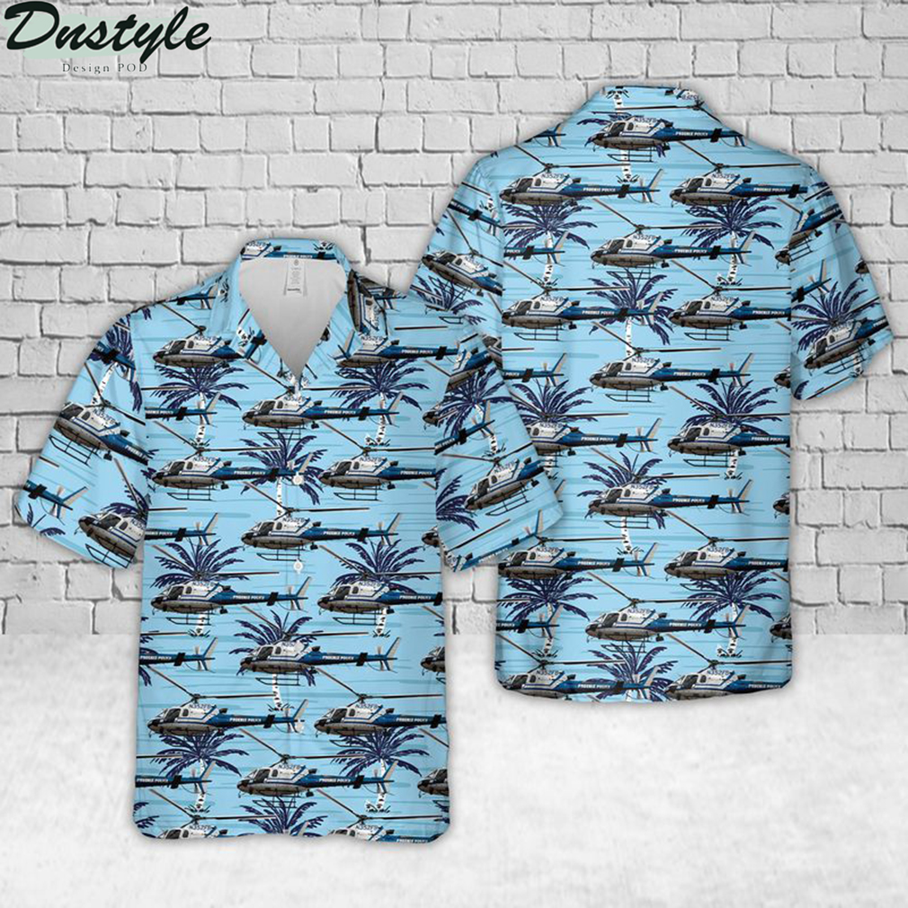 Phoenix police helicopter hawaiian shirt