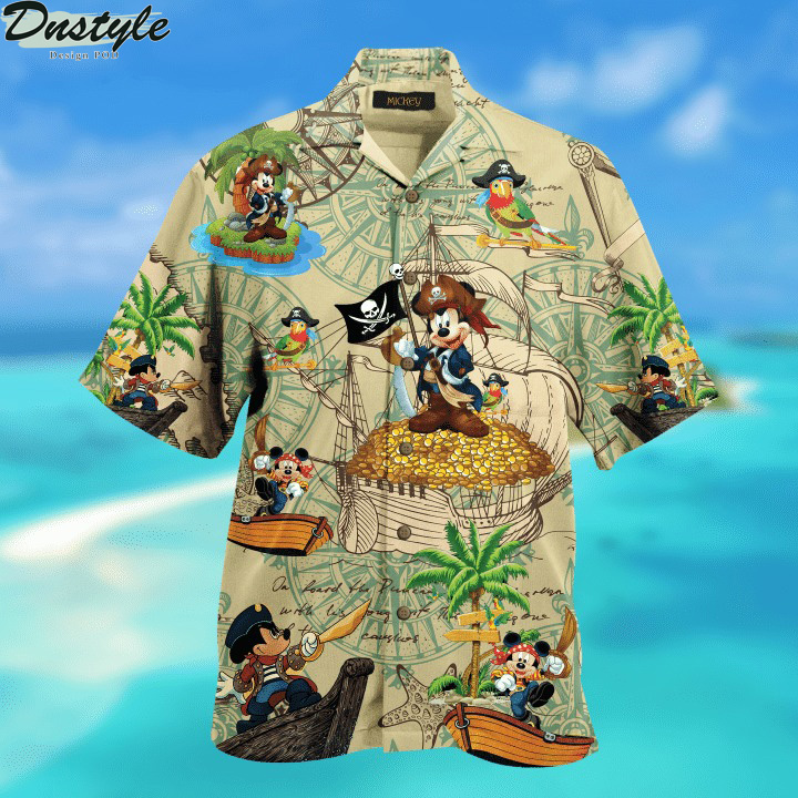 Pirate Mickey Unisex Hawaiian Shirt 1