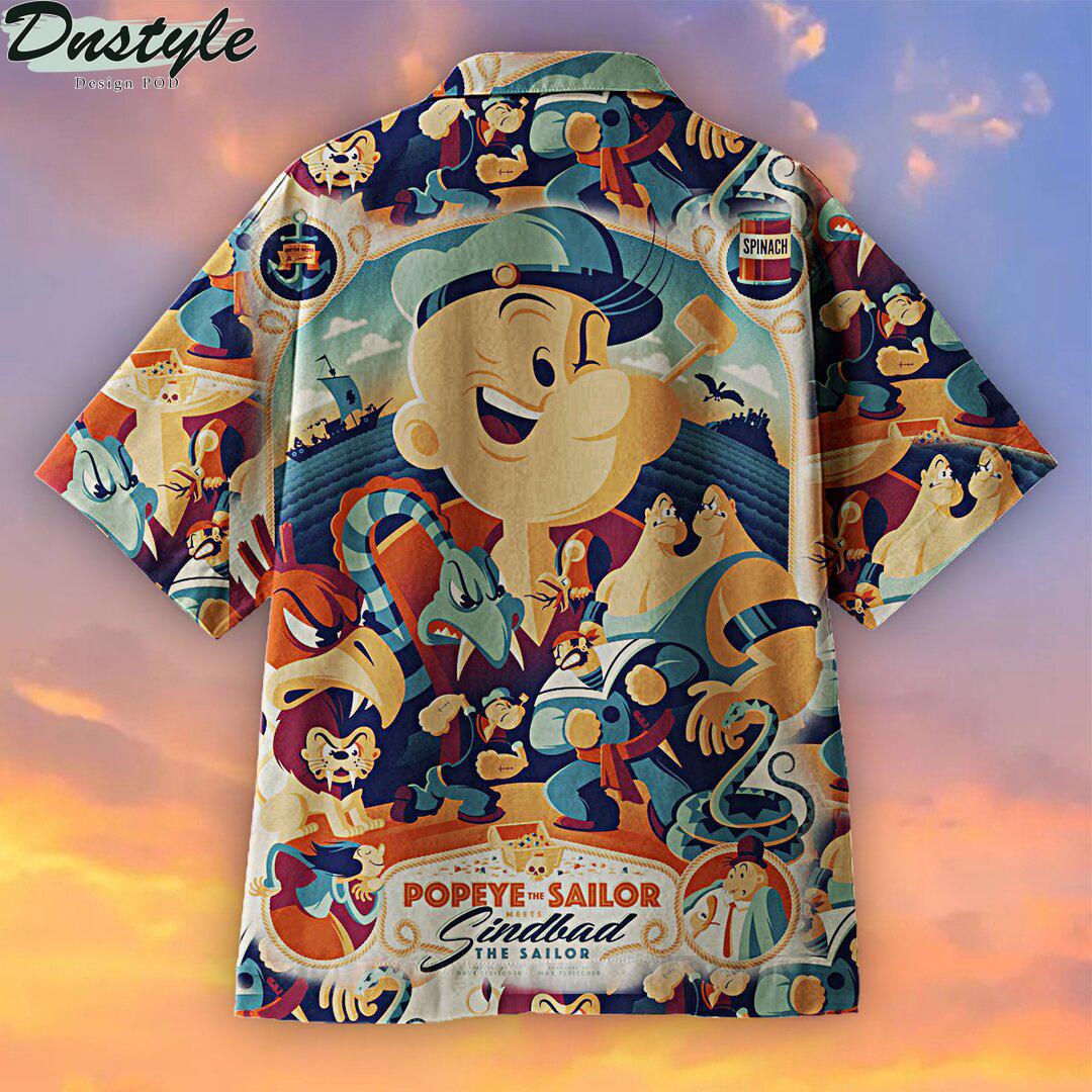 Popeye Anime Hawaiian Shirt 1