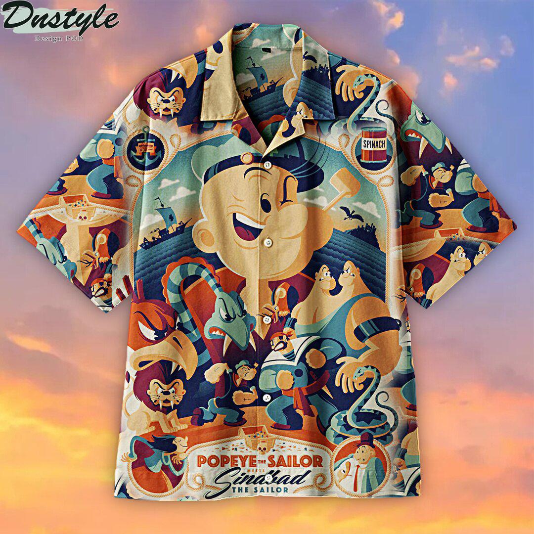 Popeye Anime Hawaiian Shirt