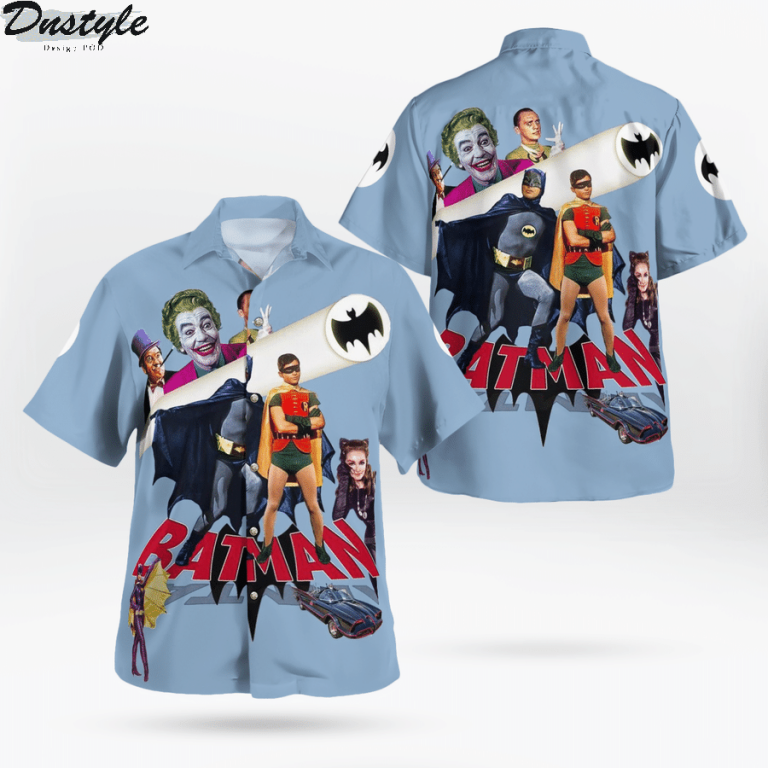 Robin batman catwoman tv series hawaiian shirt