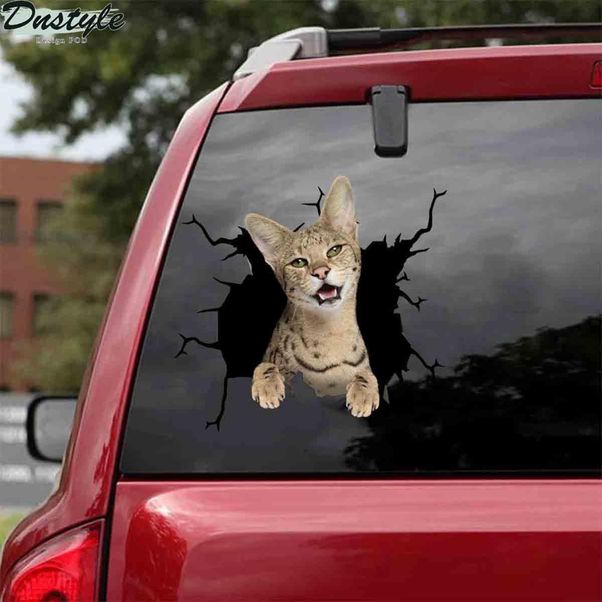 Savannah crack car sticker cats lover 1