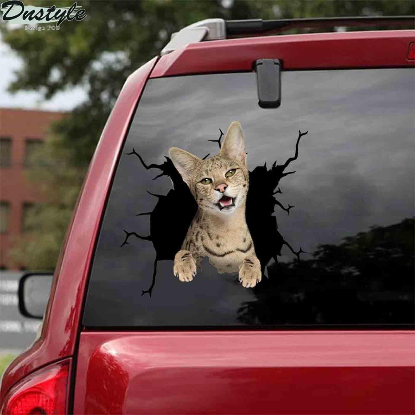 Savannah crack car sticker cats lover 2