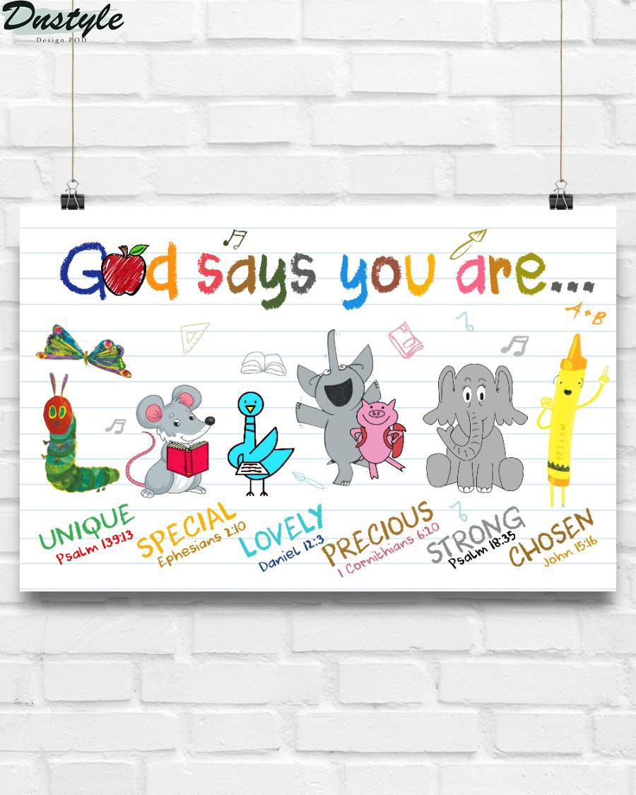School god says you are poster
