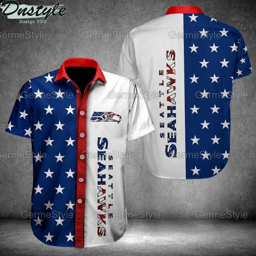 Seattle seahawks 3d skull death nfl football hawaiian shirt