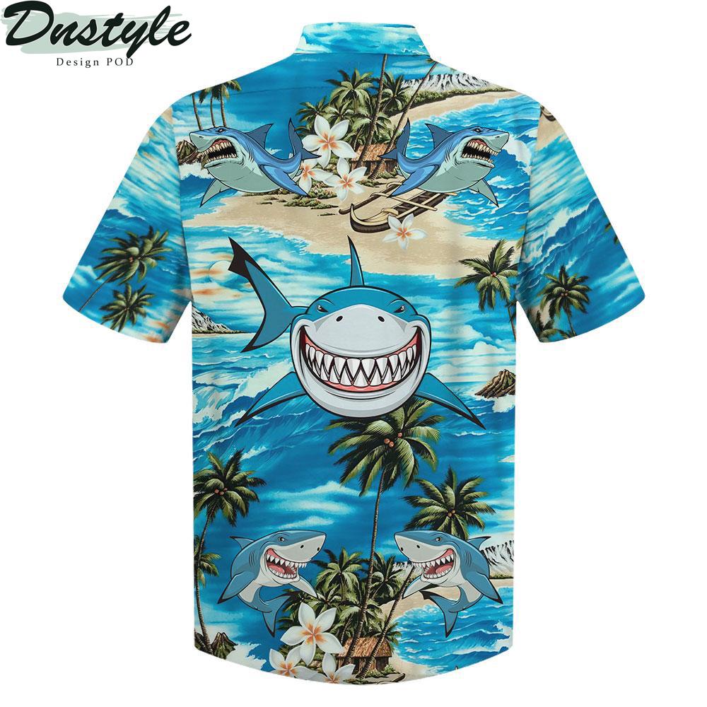 Shark smile hawaiian shirt 1