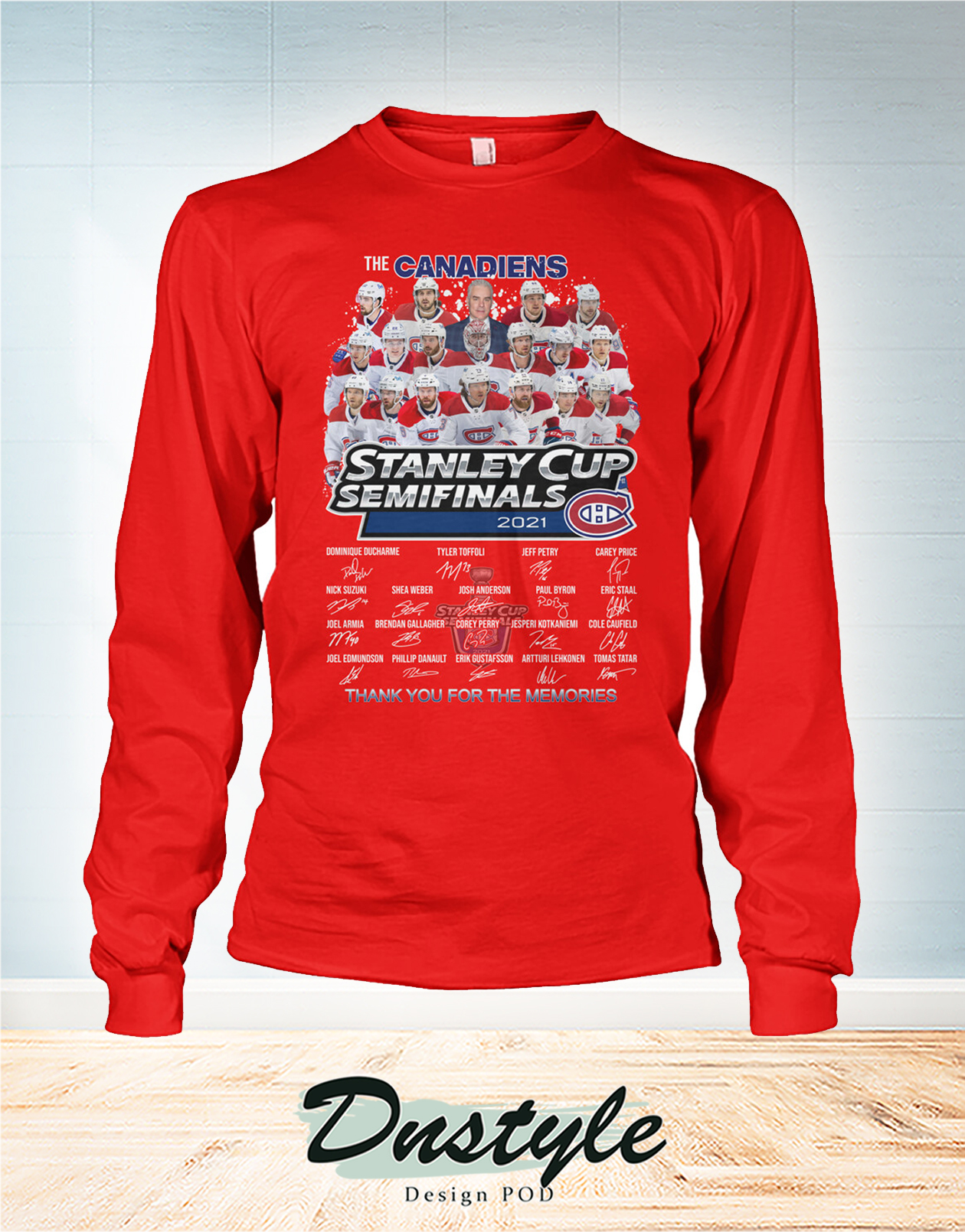 The canadiens stanley cup semifinals 2021 signature long sleeve
