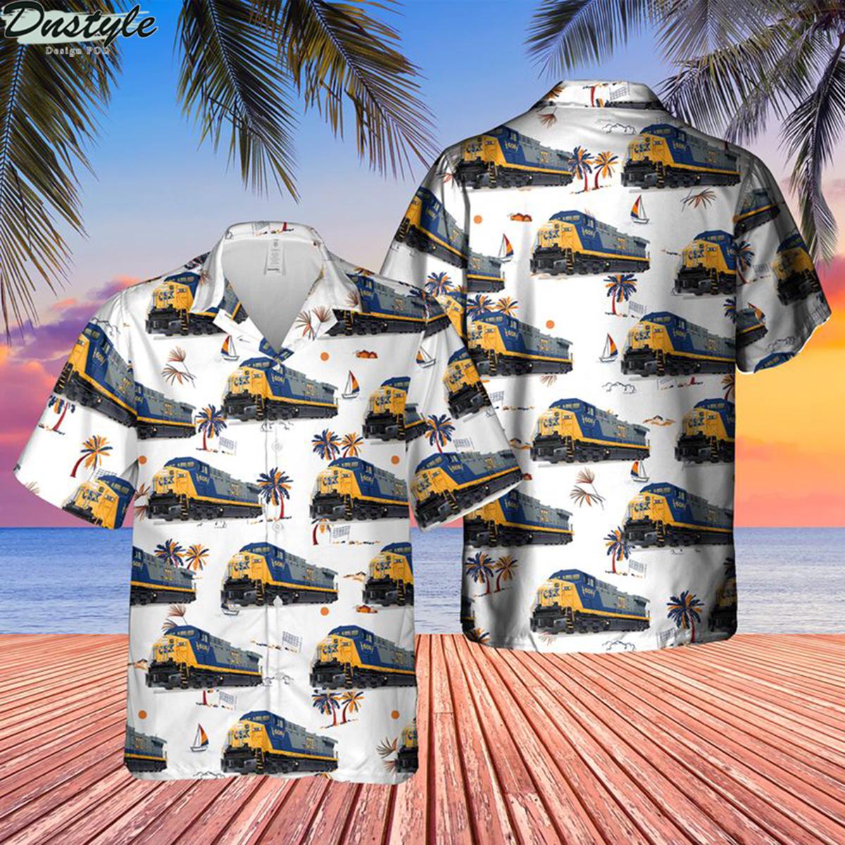 Transportation ge ac6000cw locomotive hawaiian shirt 2