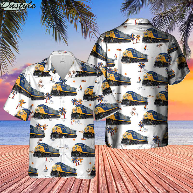 Transportation ge ac6000cw locomotive hawaiian shirt
