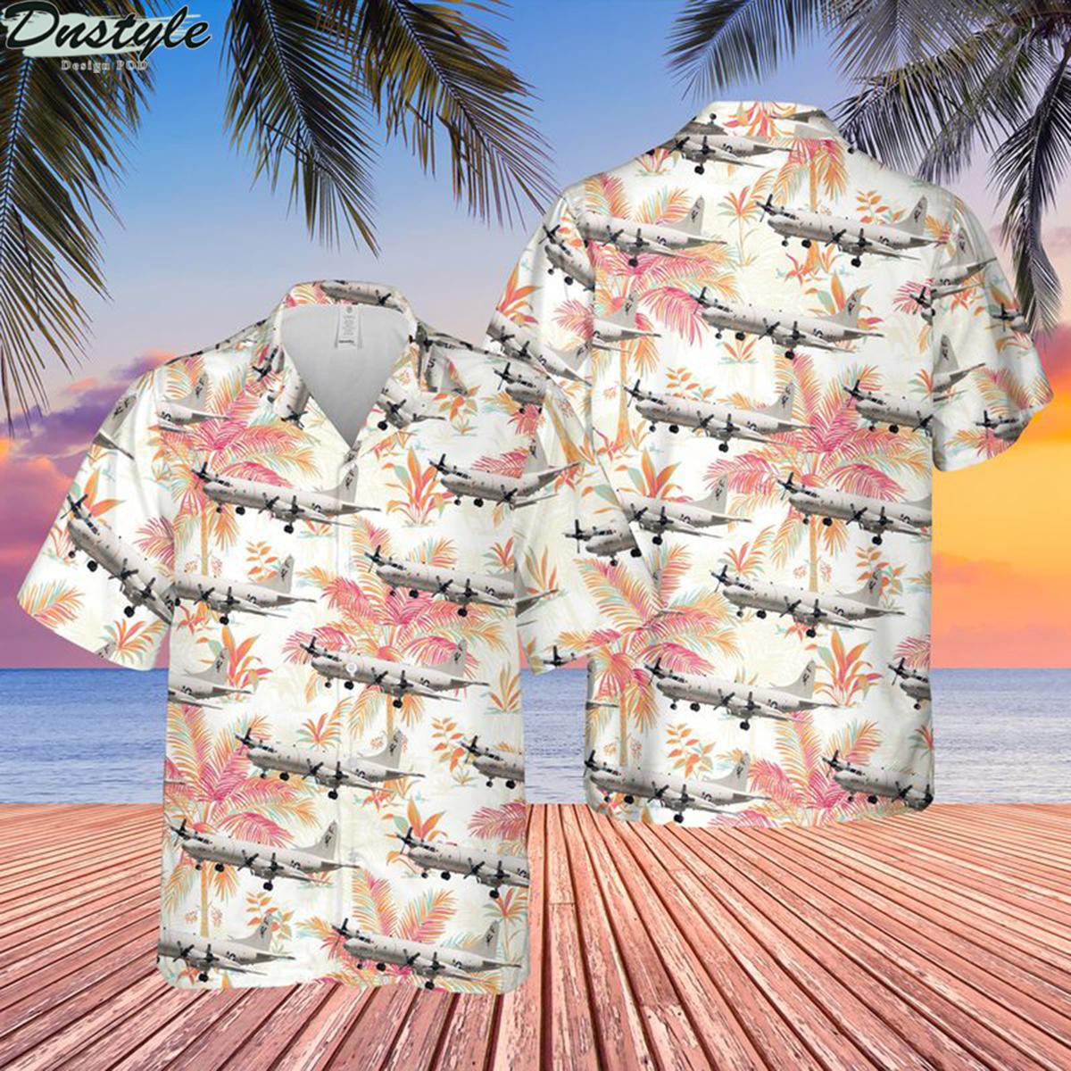 US navy lockheed p-3c orion hawaiian shirt 2