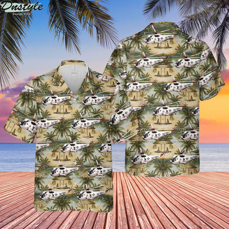 US navy sikorsky sh-3 sea king hawaiian shirt
