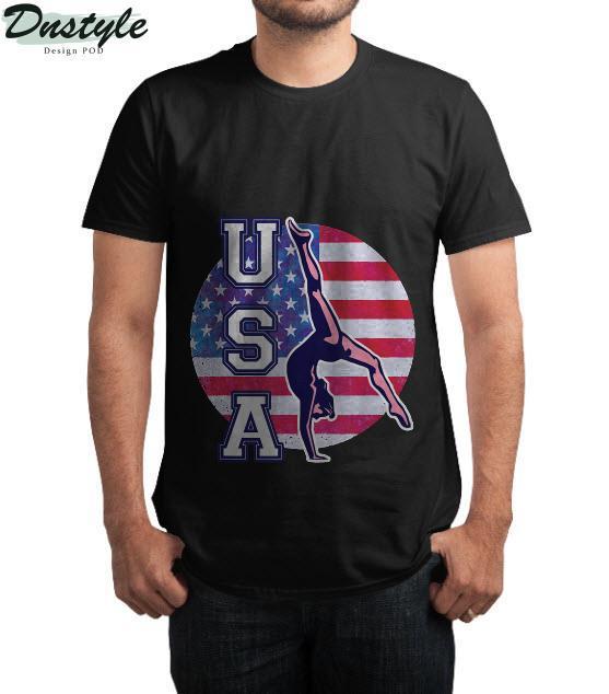 USA Gymnast Womens Gymnastics Team Athlete American Flag T-Shirt 2