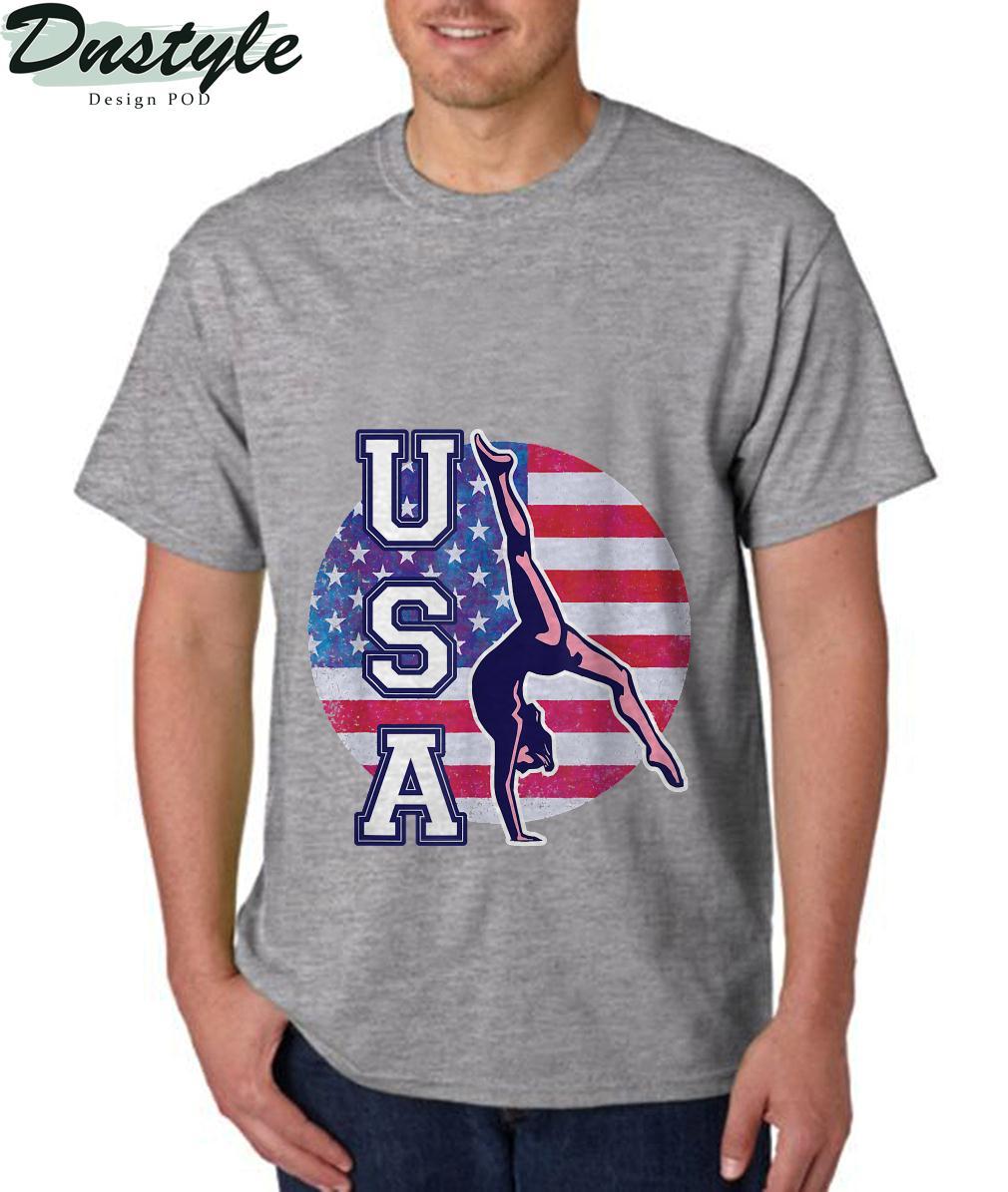 USA Gymnast Womens Gymnastics Team Athlete American Flag T-Shirt 3