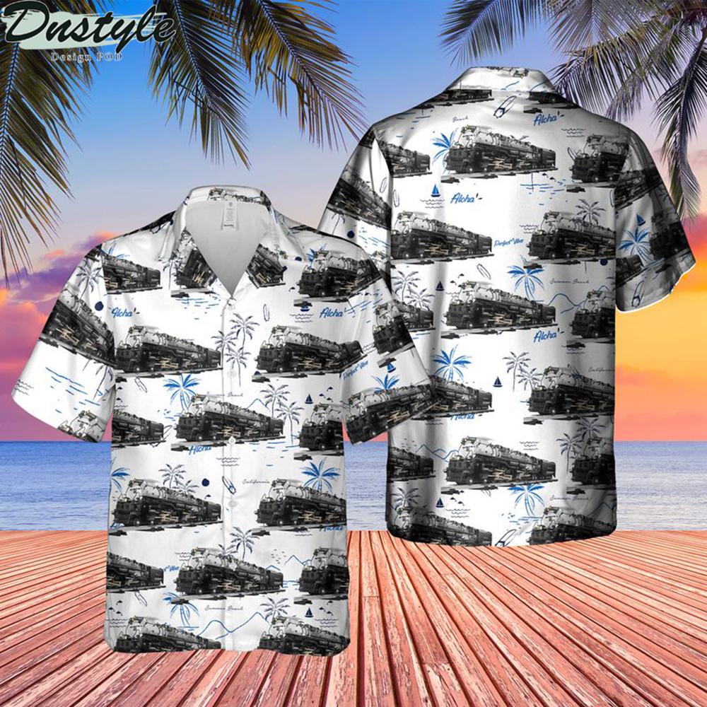 Union pacific challenger no 3985 hawaiian shirt 1