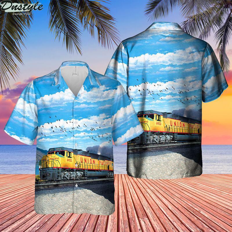 Union pacific emd dda40x locomotive hawaiian shirt