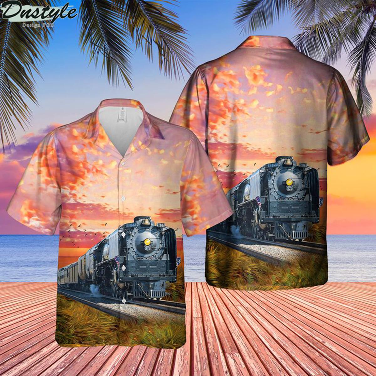 Union pacific living legend no 844 hawaiian shirt 2