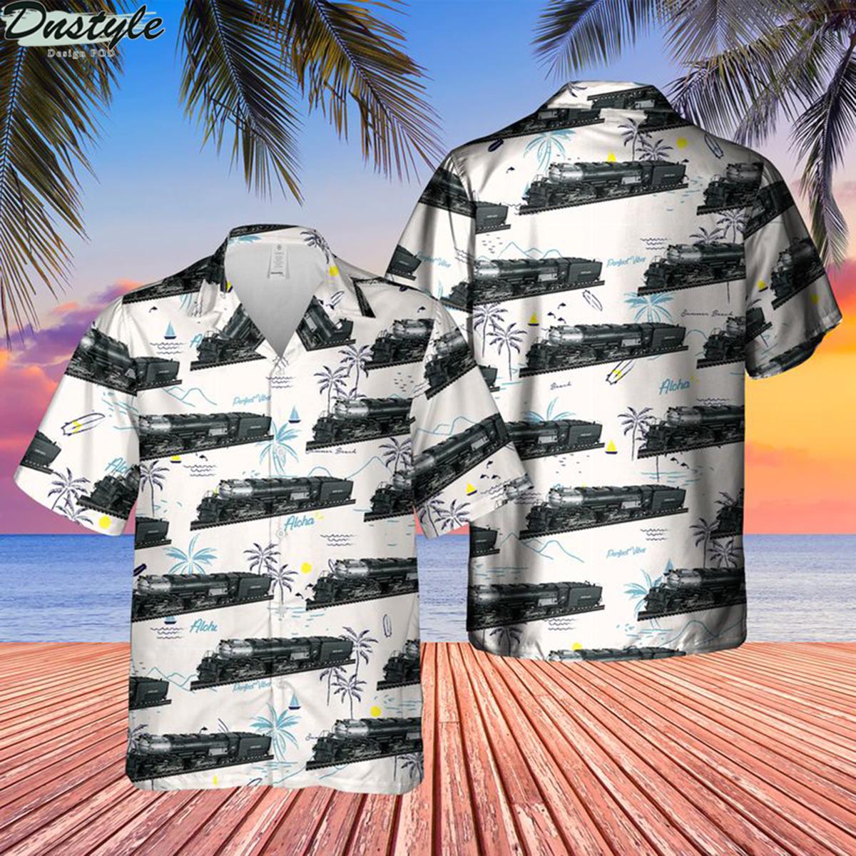 Union pacific railroad big boy no 4014 steam hawaiian shirt 2