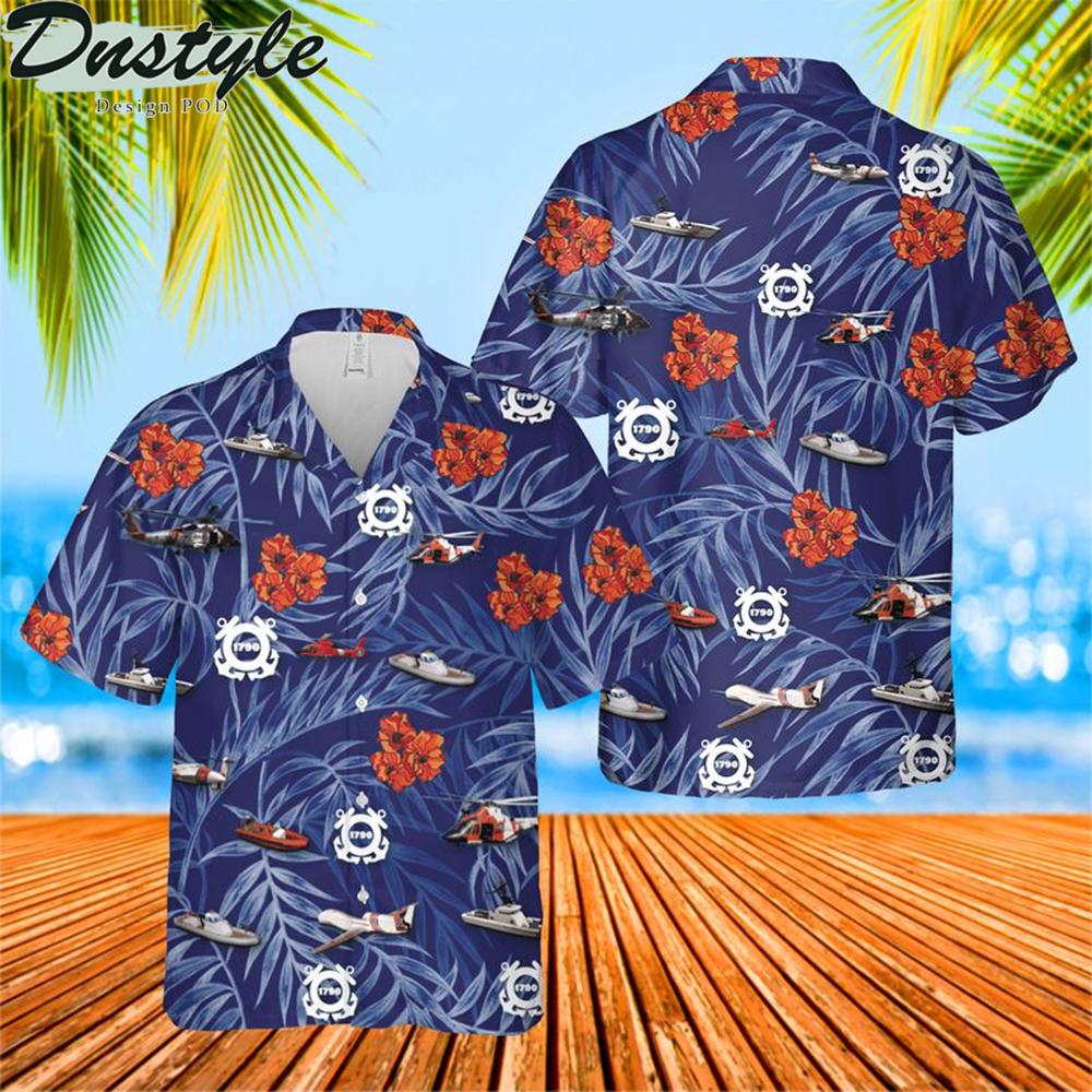 Us coast guard birthday hawaiian shirt