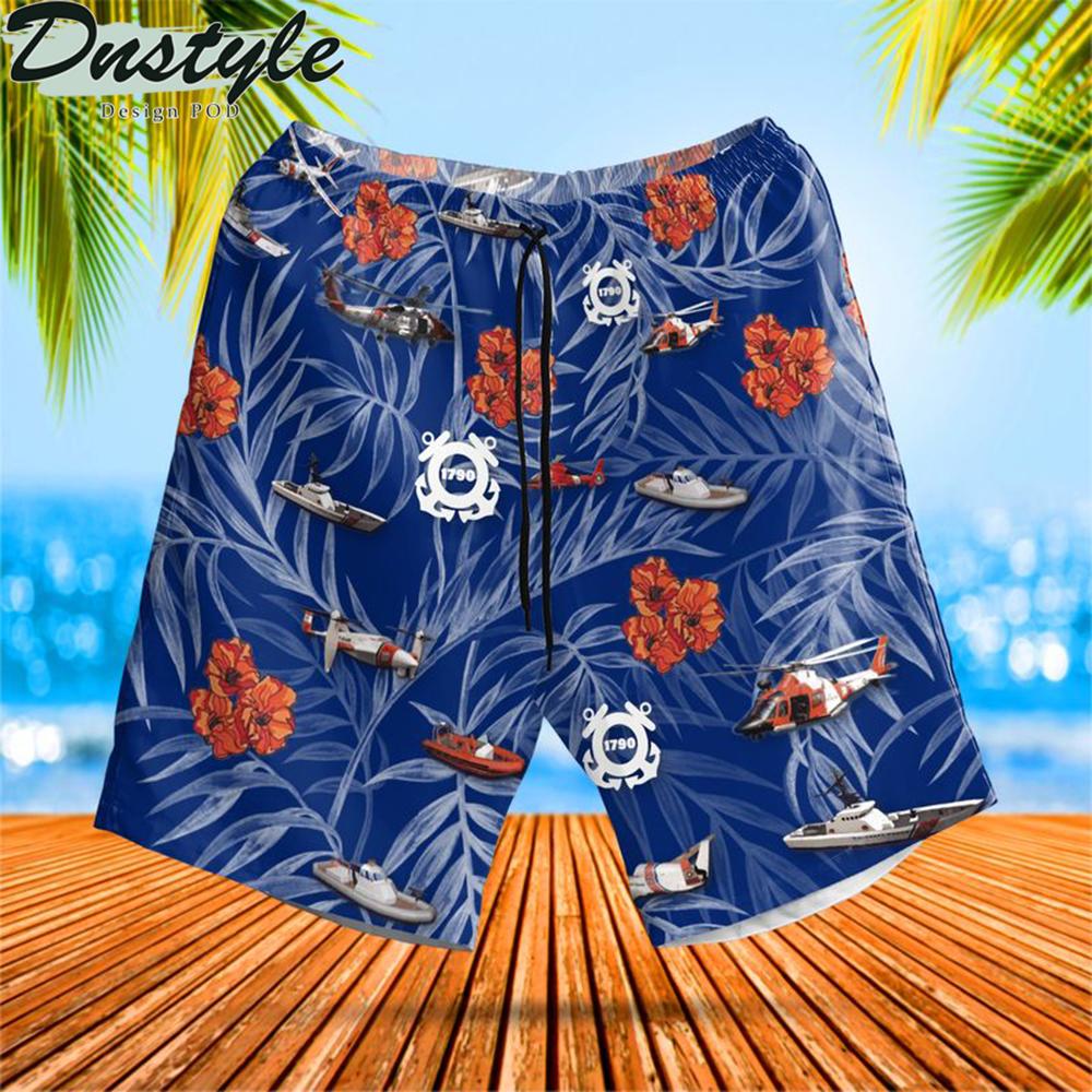 Us coast guard birthday hawaiian short