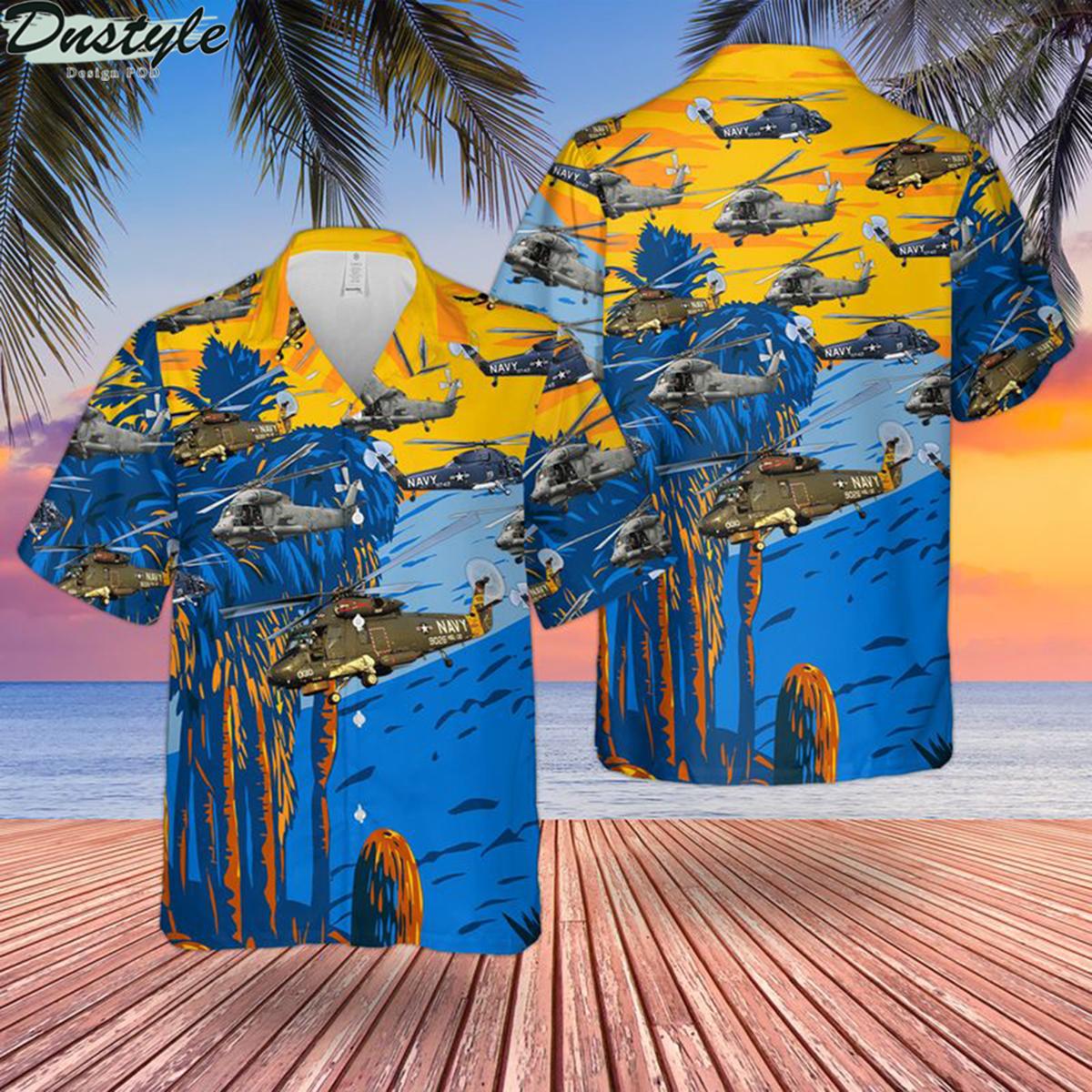 Us navy kaman sh-2 seasprite hawaiian shirt 2