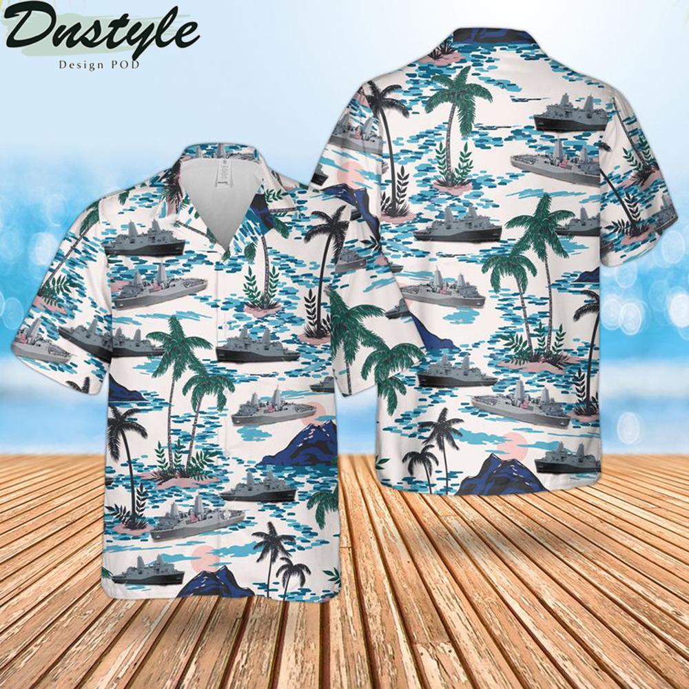 Us navy uss new york hawaiian shirt
