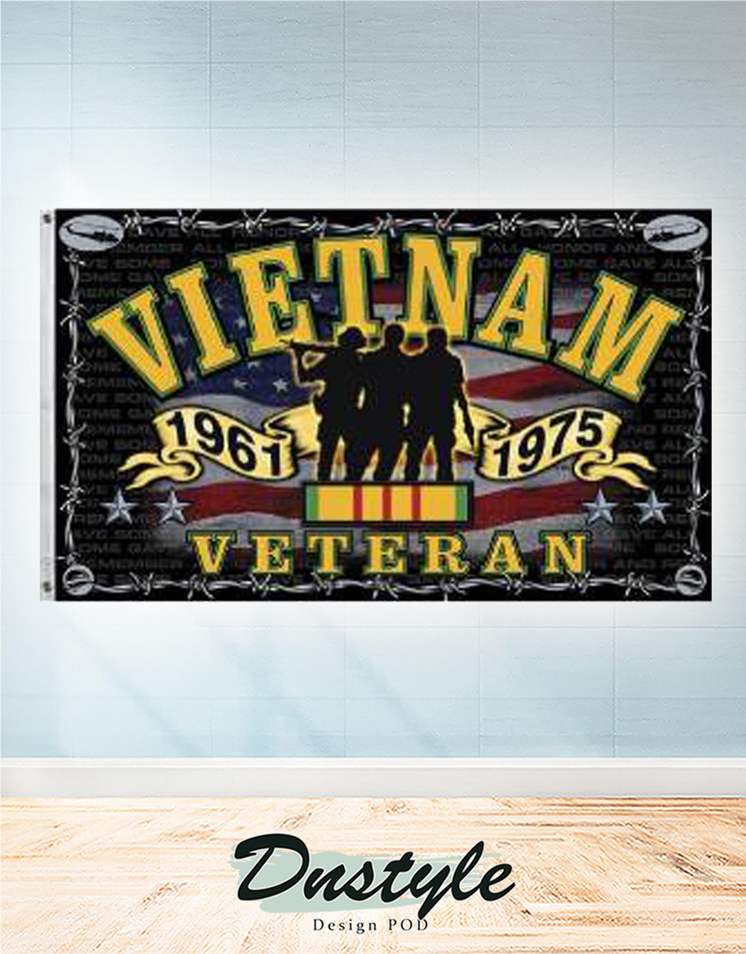 Vietnam veteran memorial flag 2