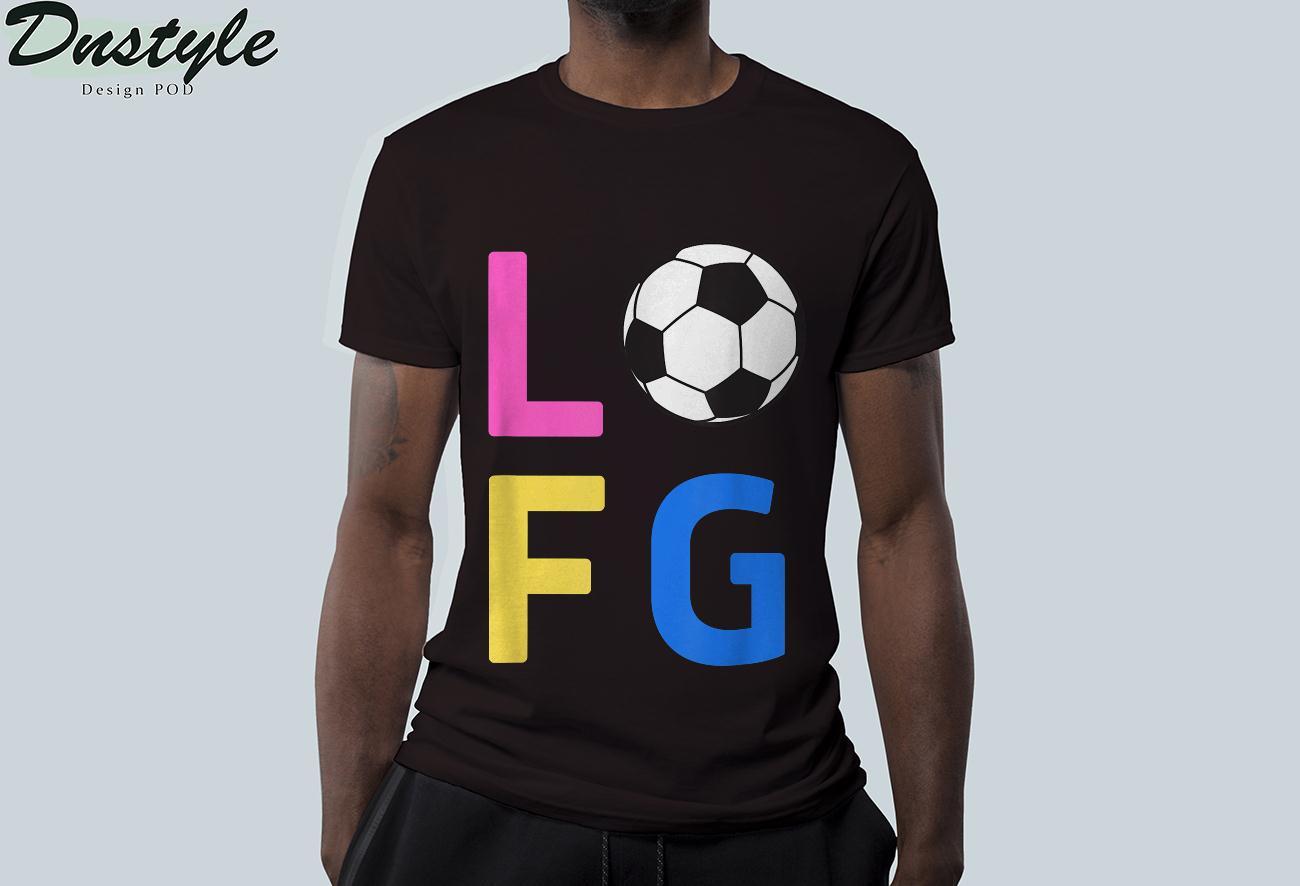 Womens LFG Let's Go Women Soccer Gameday Sports Battle Cry T-Shirt 1