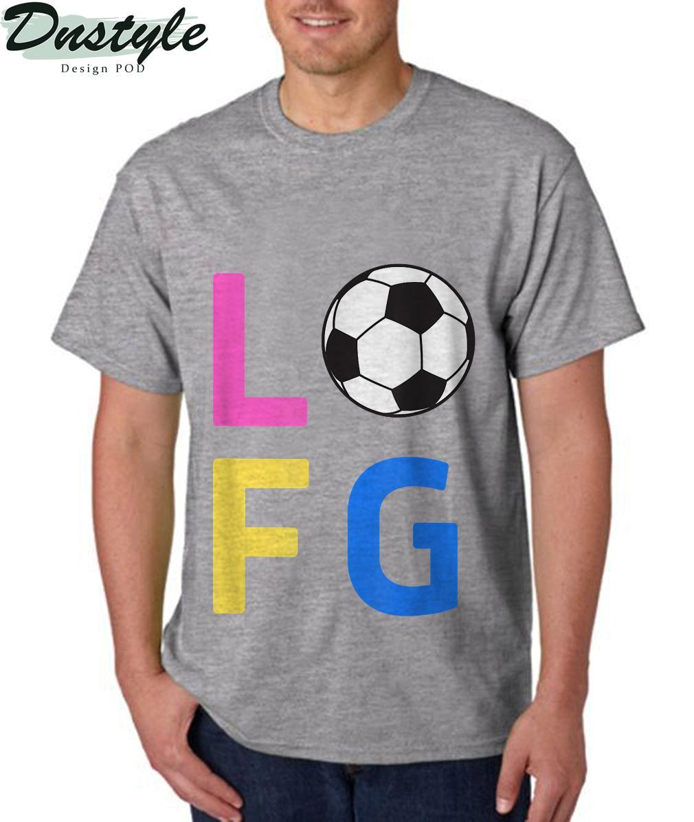 Womens LFG Let's Go Women Soccer Gameday Sports Battle Cry T-Shirt 3