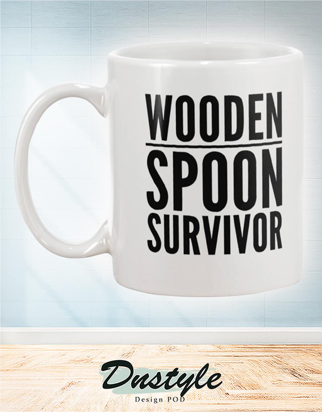 Wooden spoon survivor mug 1