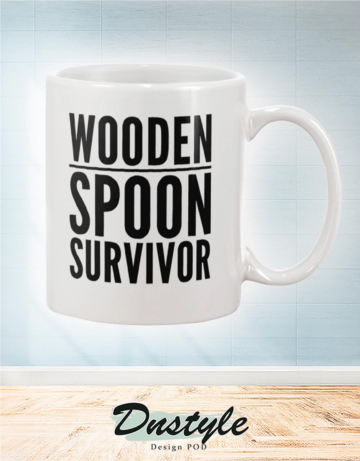 Wooden spoon survivor mug 2