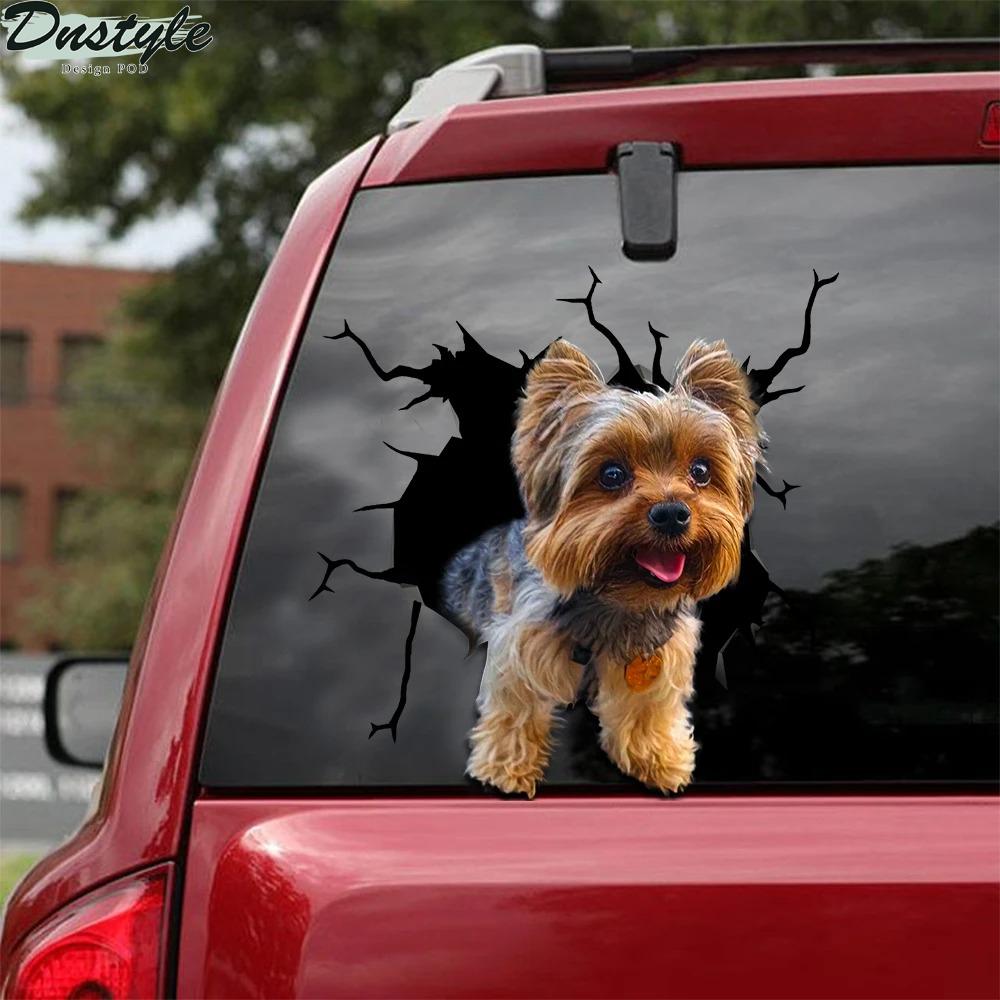 Yorkshire crack car decal sticker