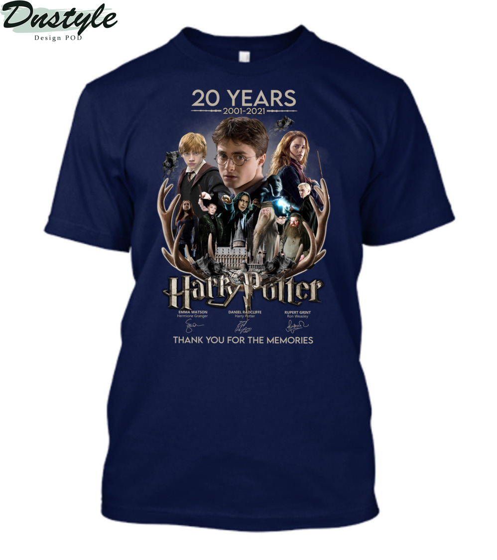 20 years 2001-2021 Harry Potter thank you for the memories shirt 1