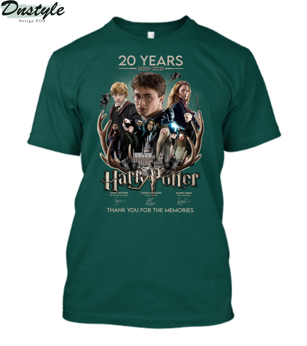 20 years 2001-2021 Harry Potter thank you for the memories shirt 2