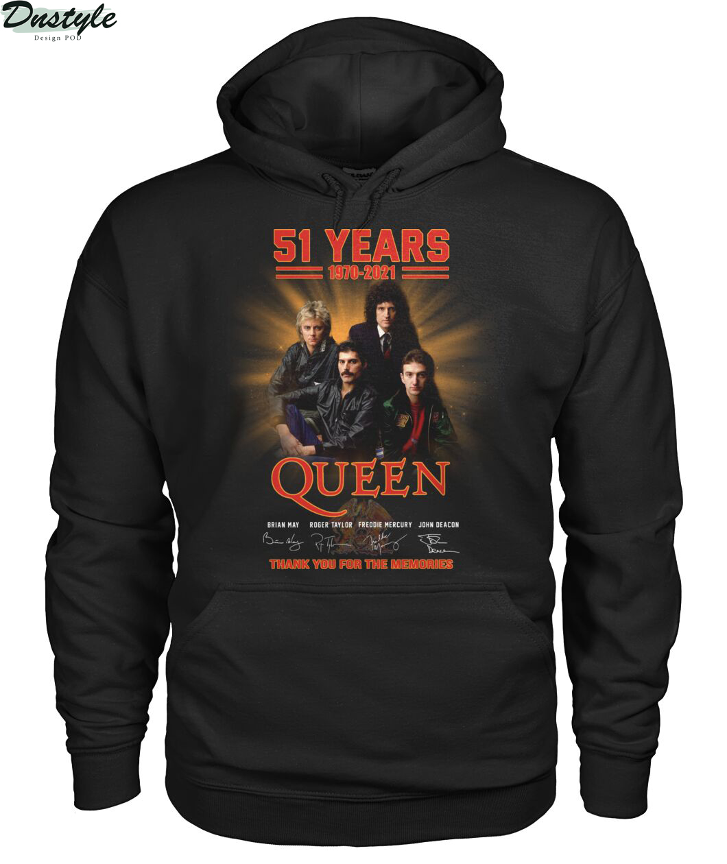 51 years 1979 2021 Queen thank you for the memories hoodie
