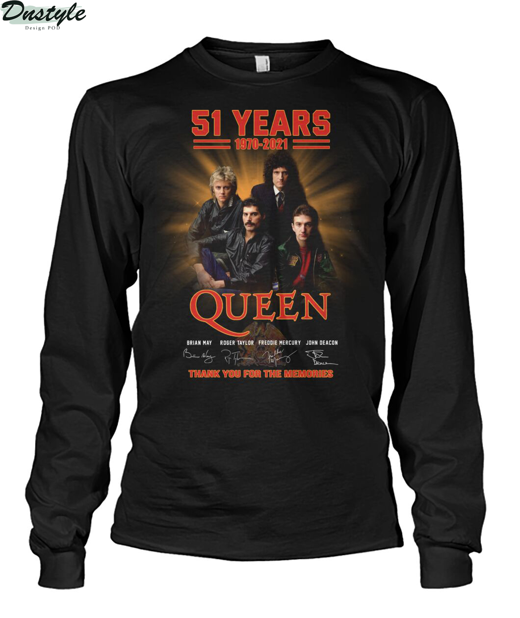 51 years 1979 2021 Queen thank you for the memories long sleeve