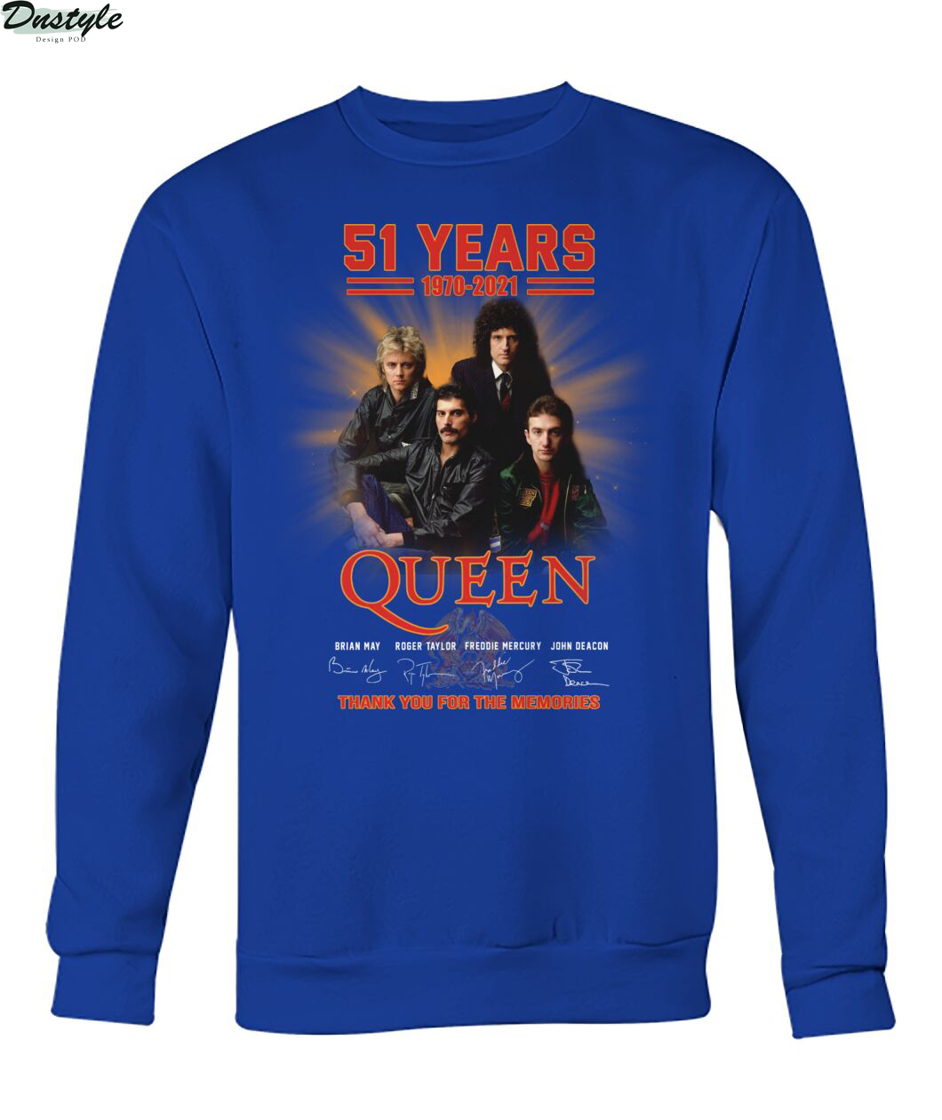 51 years 1979 2021 Queen thank you for the memories sweatshirt