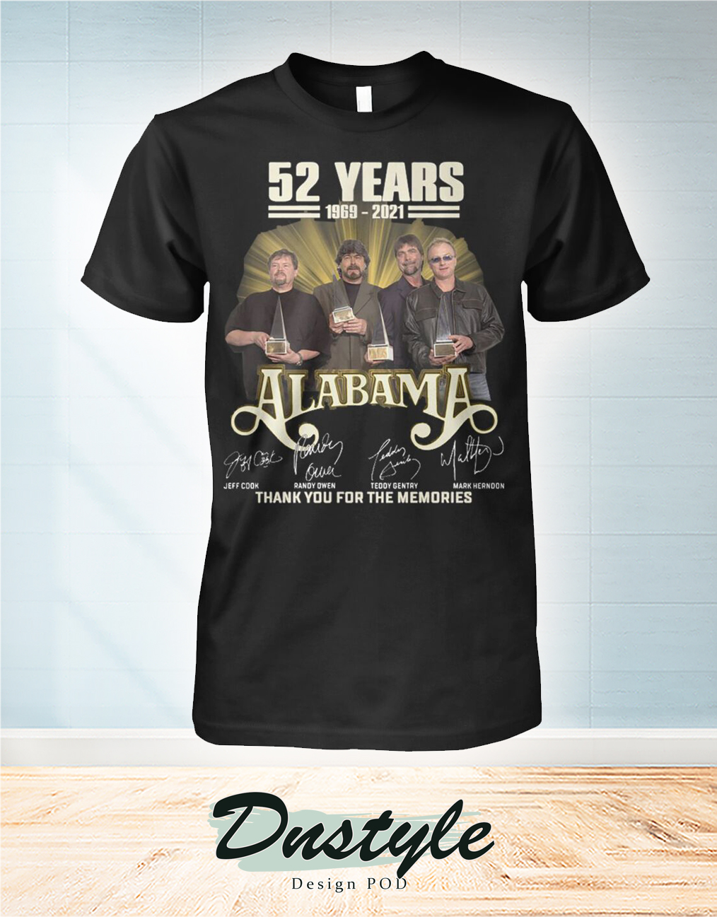 52 years 1969 2021 Alabama thank you for the memories shirt