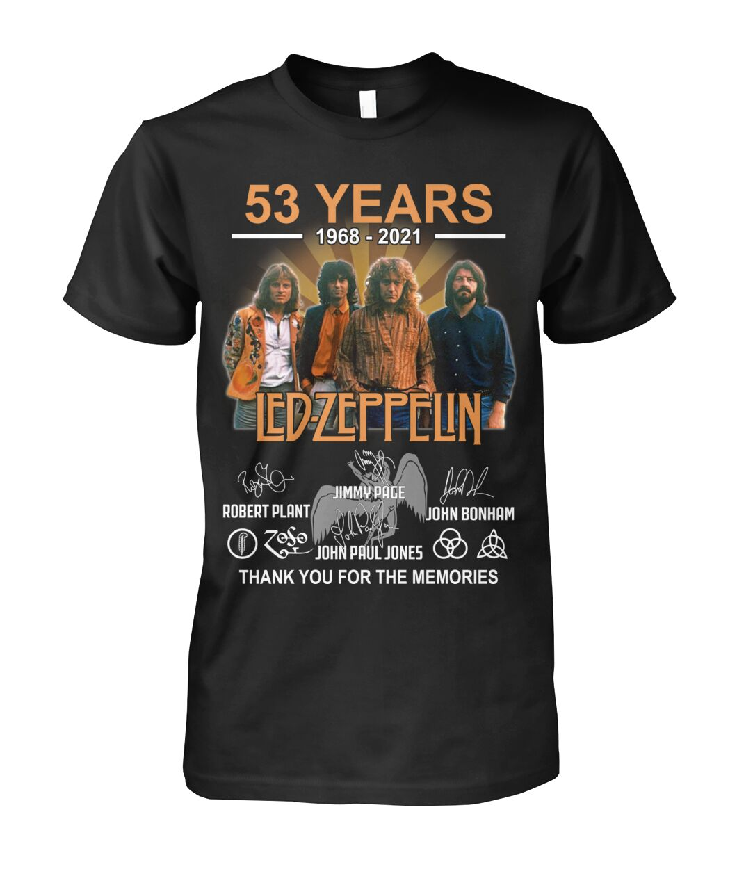 53 years Led Zeppelin signature thank you for the memories shirt