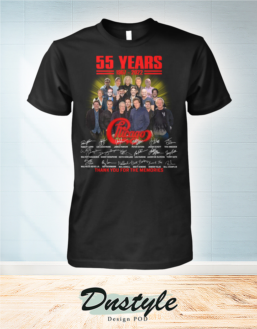 55 years 1987 2022 chicago signature thank you for the memories shirt