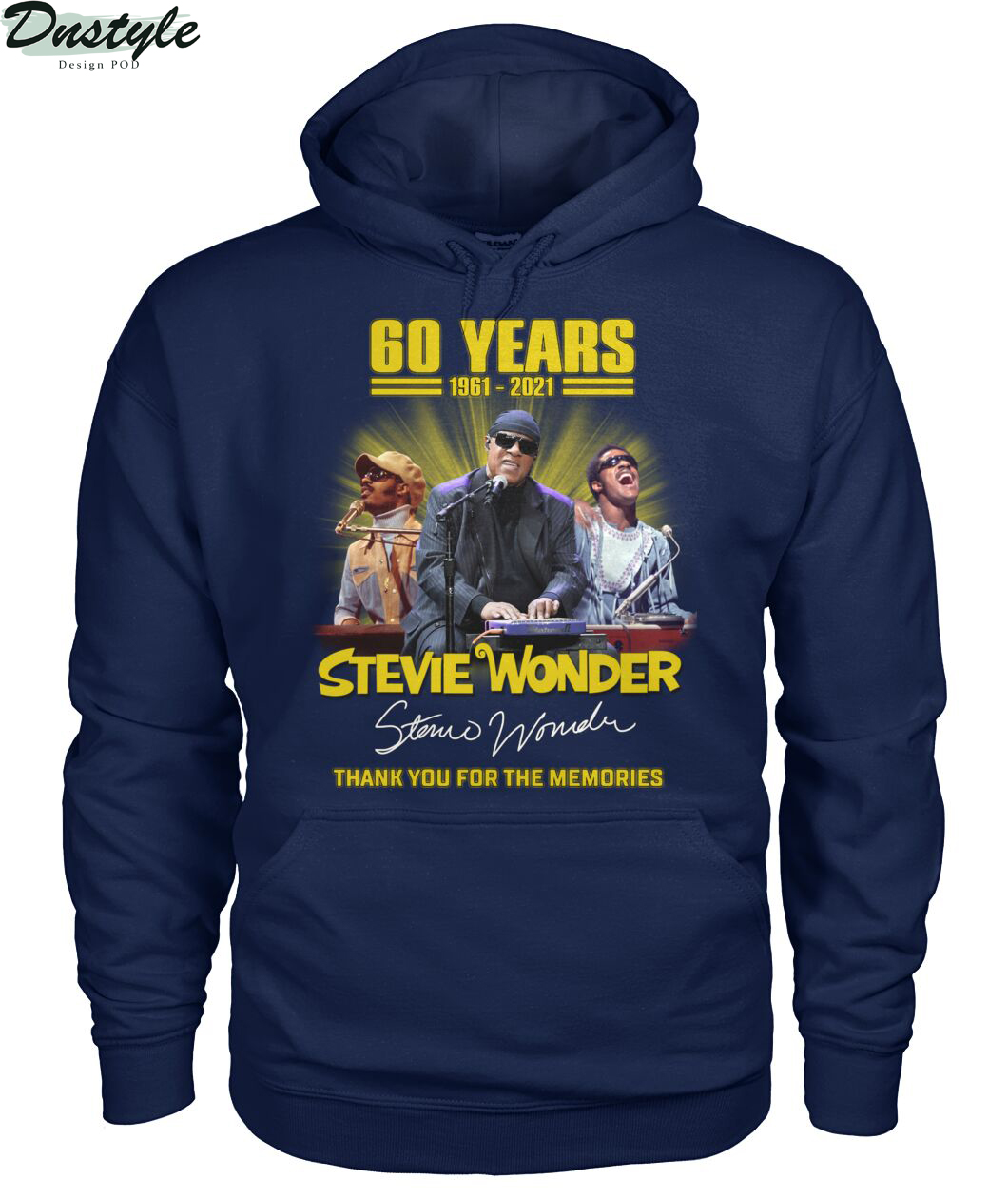 60 years Stevie Wonder signature thank you for the memories hoodie