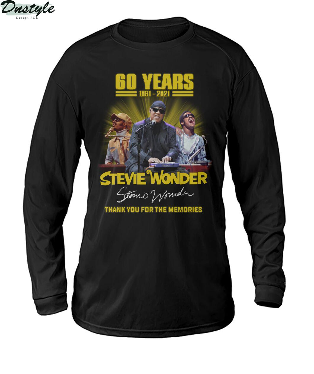 60 years Stevie Wonder signature thank you for the memories sweatshirt