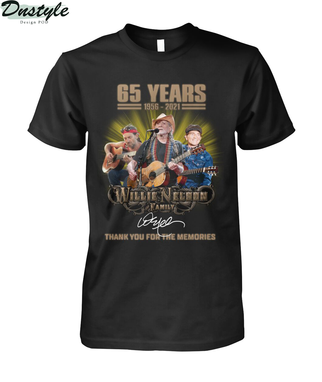 65 years Willie Nelson family thank you for the memories shirt