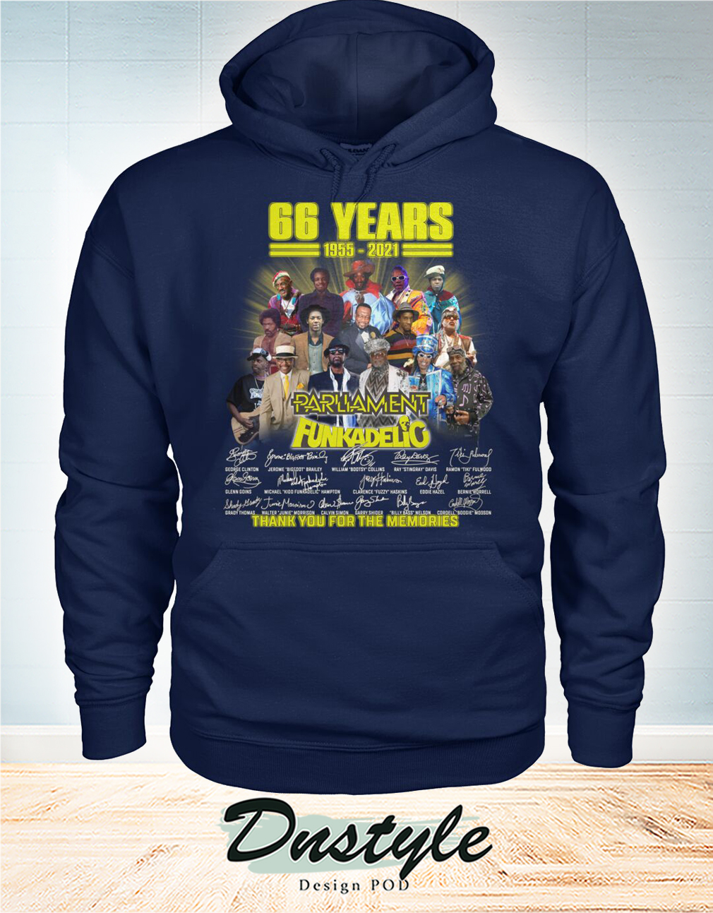 66 years parliament funkadelic thank you for the memories hoodie