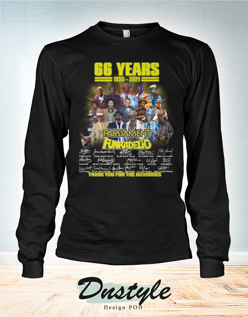 66 years parliament funkadelic thank you for the memories long sleeve