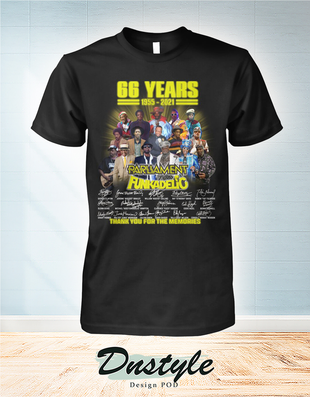66 years parliament funkadelic thank you for the memories shirt