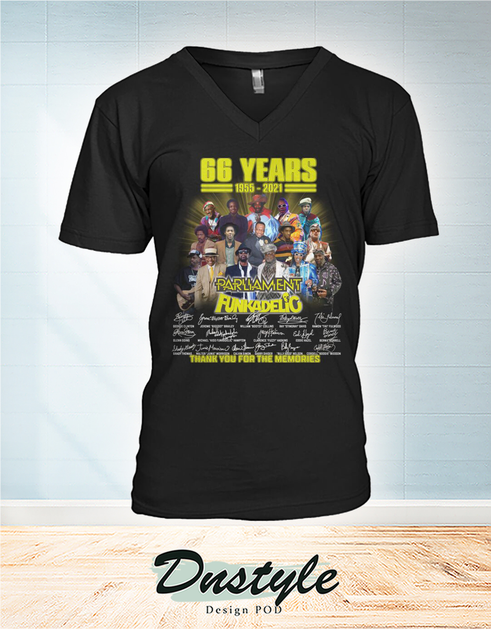 66 years parliament funkadelic thank you for the memories v-neck
