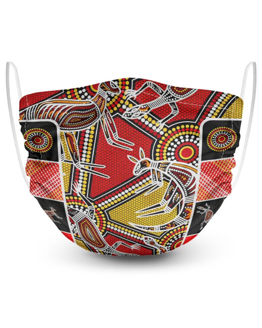 Aboriginal Kangaroo Australia Art face mask